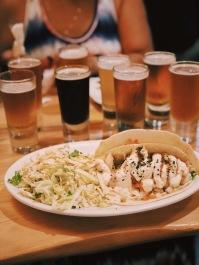 Fish tacos and a flight of beer at Kauai Beer Company